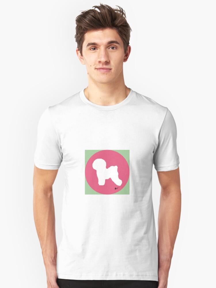 Bichon Frise Silhouette - Azalea Dot Unisex T-Shirt Front