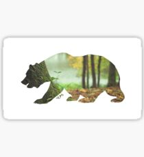 Forest nature bear abstract realism  Sticker