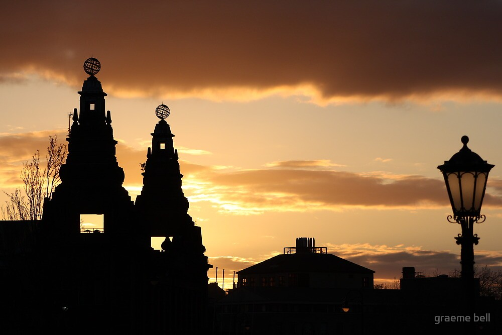 Sunset Over The Kelvin Hall,Glasgow. by graeme bell