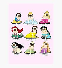 Pug Princesses Photographic Print