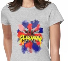 Believe in Sherlock Womens Fitted T-Shirt