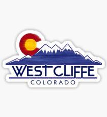 Westcliffe Colorado wood mountains Sticker