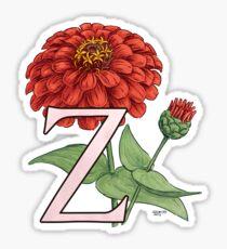 Z is for Zinnia floating Sticker
