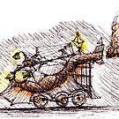 Steampunk Train by Daniele Lunghini