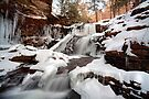 The Shawnee Waterfall Is Freezing Over Fast by Gene Walls