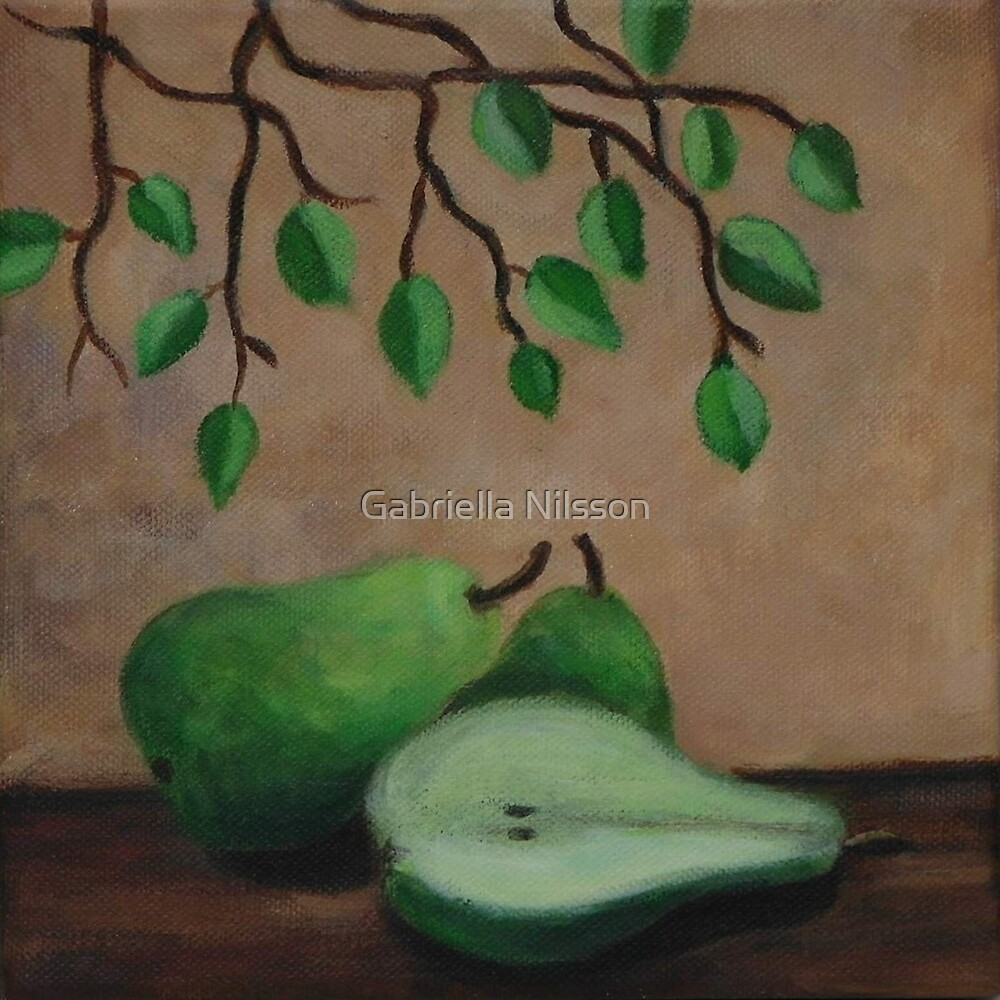"""Still life with pears"" by Gabriella Nilsson"