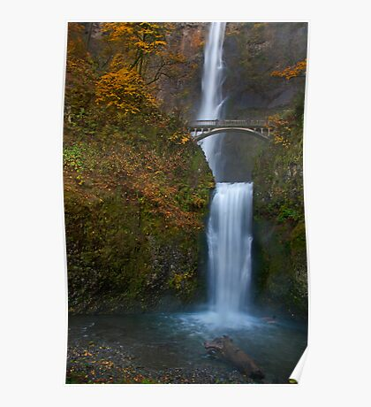 Multnomah Falls, Oregon. Poster
