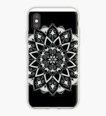 Mandala - Weiß / Schwarz iPhone-Hülle & Cover