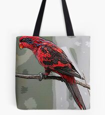 Blue Streaked Lory Bird  Poster Print & Card Tote Bag