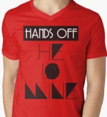 Hands Off He Is MINE  Men's V-Neck T-Shirt