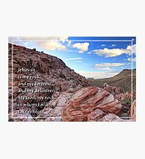 Jehovah is My Rock (Card) Photographic Print