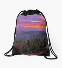 Clingman's Dome Sunset Drawstring Bag