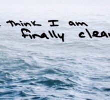"Faded Ocean - Taylor Swift ""Clean"" Lyrics Sticker"