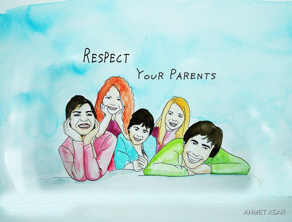 School Poster  respect your parents by MotionAge Media