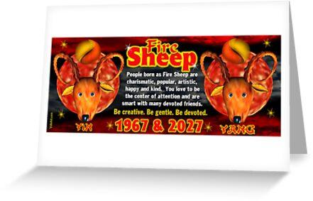 Chinese zodiac Fire Sheep 1967,2027 by Valxart