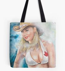 Canada Day Cowgirl Tote Bag
