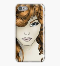 The Intriguing Woman... with Red Hair iPhone Case/Skin