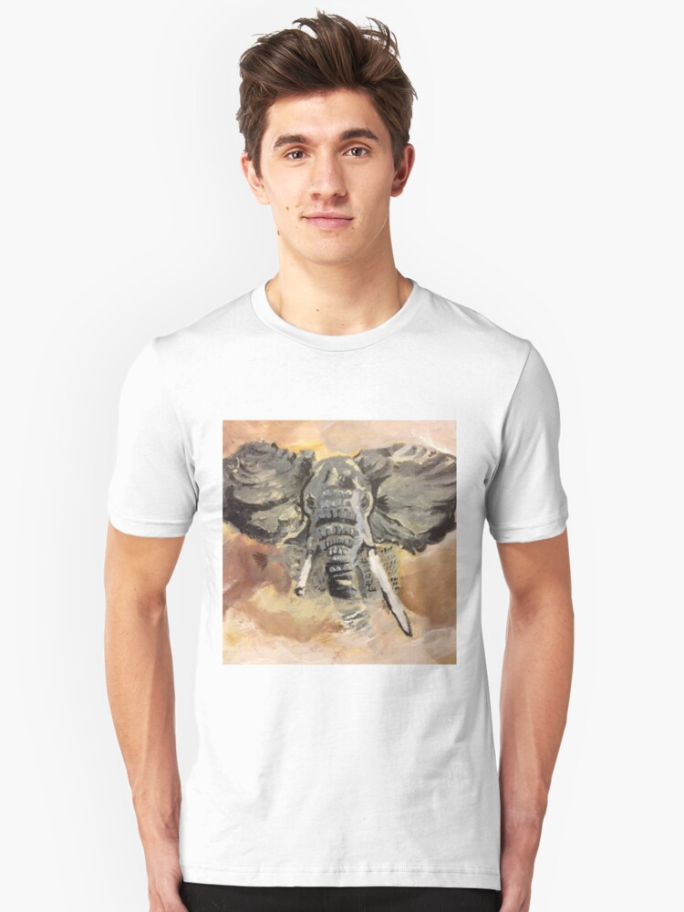 Elephant Art by Max Candy Unisex T-Shirt Front