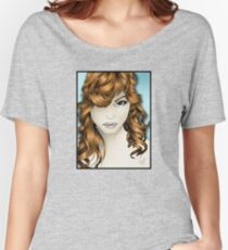 The Intriguing Woman... with Red Hair Women's Relaxed Fit T-Shirt