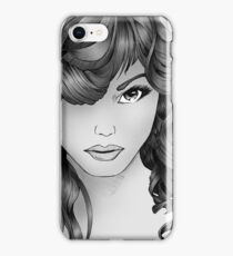The Intriguing Woman... Noir Style iPhone Case/Skin