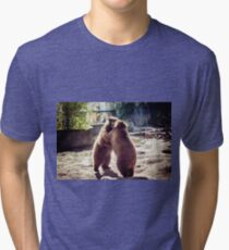 Bear fight Tri-blend T-Shirt