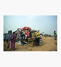 Street Shops Lagos 2 Photographic Print