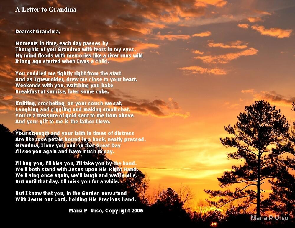 Letter To Grandma by Maria P Urso