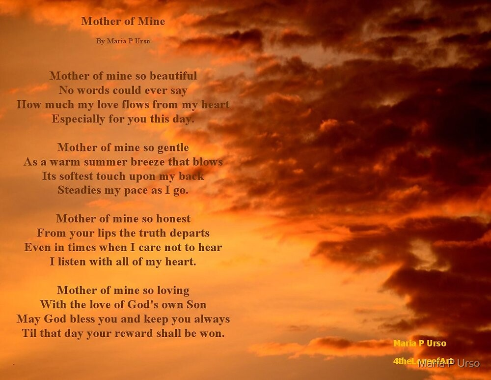 Mother of Mine by Maria P Urso