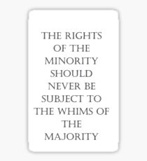 Rights quote Sticker