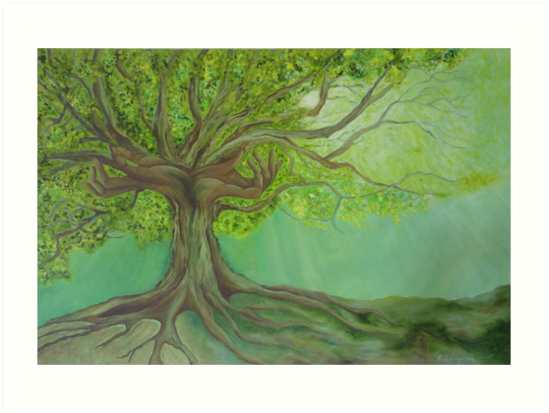 Ancient Tree Hands  by Ria  Rademeyer