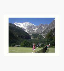 I RICORDI SARANNO IL SUO TESORO.....e il monte Rosa il suo rifugio...VETRINA RB EXPLORE 27 GENNAIO 2013 --- Art Print