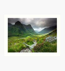 Scotland: Glencoe Valley Summer Art Print
