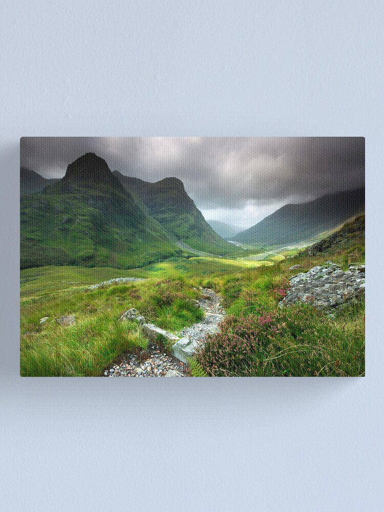 Alternate view of Scotland: Glencoe Valley Summer Canvas Print