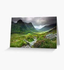 Scotland: Glencoe Valley Summer Greeting Card
