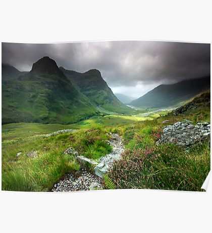 Scotland: Glencoe Valley Summer Poster