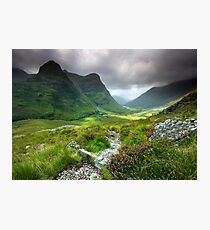 Scotland: Glencoe Valley Summer Photographic Print