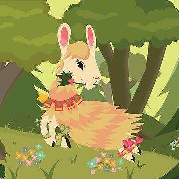 Cute Lama  :) by centtaro