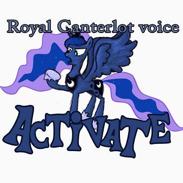 Luna - Canterlot voice activated by Fundz64