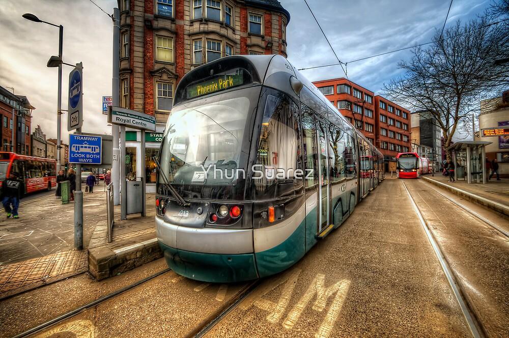 Nottingham Tram by Yhun Suarez