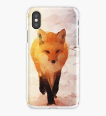 Red Fox Low Poly iPhone Case