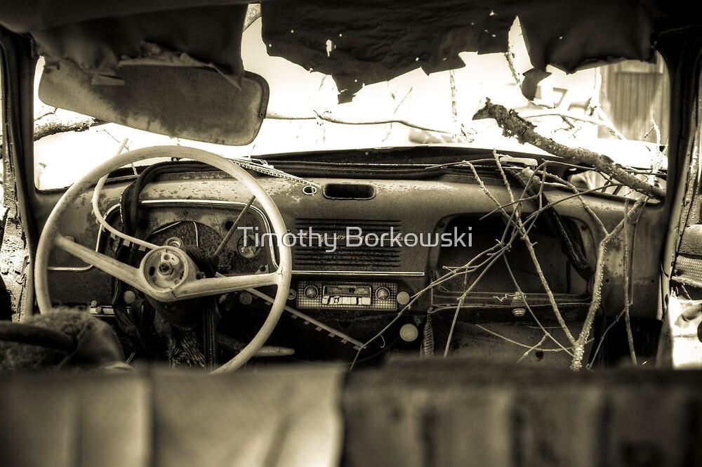 Old Car Interior by Timothy Borkowski