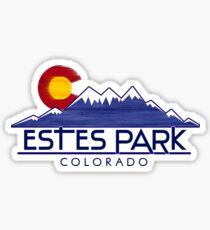Estes Park Colorado wood mountains Sticker