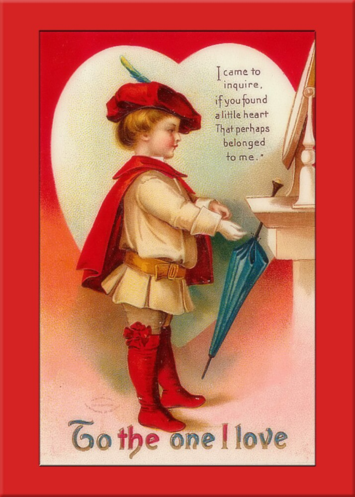 Valentine Card-Little Squire by Yesteryears
