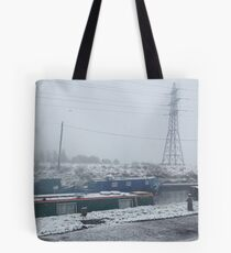Beeston Canal. Snow Tote Bag