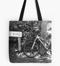Bicycle in the snow Tote Bag
