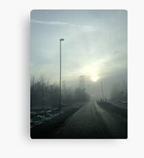 Clipstone Colliery in the fog Canvas Print