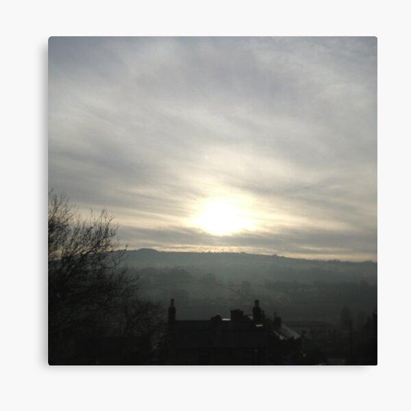 Derbyshire sunset Canvas Print