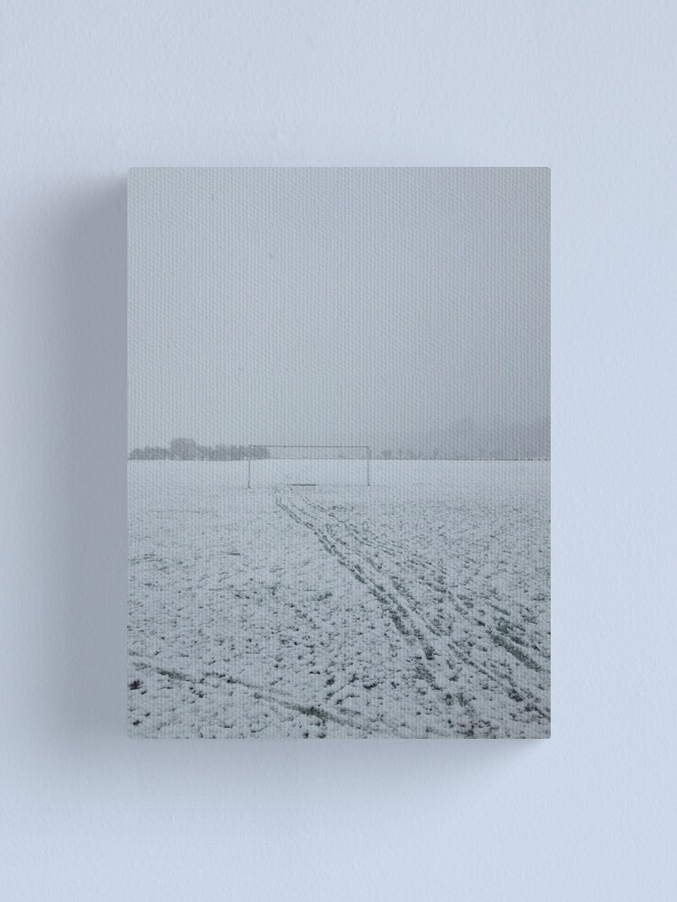 Alternate view of Football pitch. Snow Canvas Print