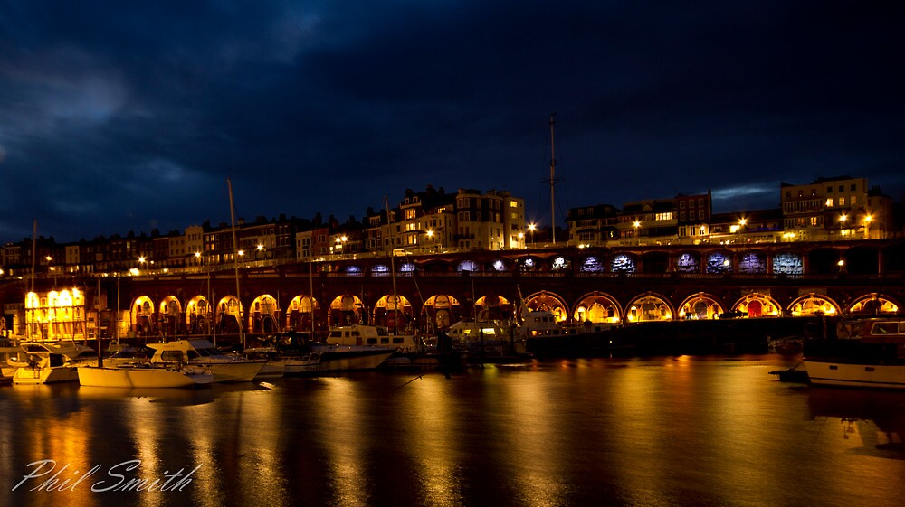 Ramsgate Harbour at night by SmithsPictures