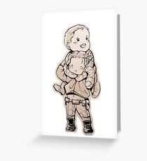 Stucky hug! Greeting Card
